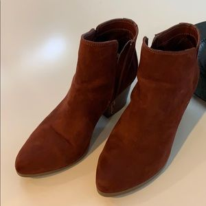 Suede ankle boots size 9